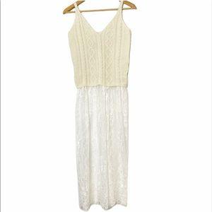 🆕 i.madeline knit lace boho top